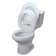 Ableware Hinged Elevated Toilet Seat - 3""