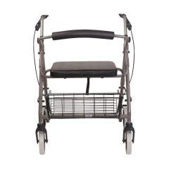 Mabis DMI DMI Lightweight Extra-wide Aluminum Rollator Walker with Seat