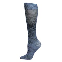 Midnight Lace Fashion Knee High Socks