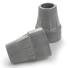 Crutch Tips - Grey Rubber Tips for Invacare Crutches