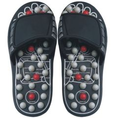 Reflexology Sandals - Black and Pearl
