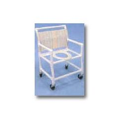 "Healthline Shower/Commode Chair - Extra Wide - Elongated commode seat - 24"" interior width  - NO Bar in back - No Pail"