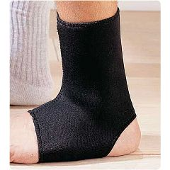 Sammons Preston Neoprene Ankle Supports  Black, Large Men's-10-12
