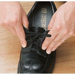 Sammons Preston Elastic Shoelaces 37 in. Brown - Two pairs
