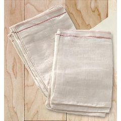 "Massage Prep Muslin Cloth Plain Drawstring Bag 4"" X 6"", 10 Count"