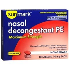 Sunmark Allergy Relief and Nasal Decongestant Tablet