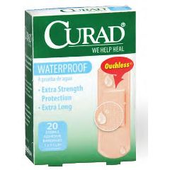 "CURAD Waterproof Bandages-  1"" x 3"""
