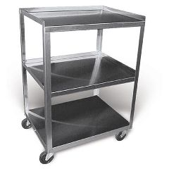 Ideal Medical Products Stainless Steel Rolling Cart Model Mc321 - 3 Shelf