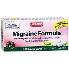 Cardinal Health Leader Migraine Formula Caplets
