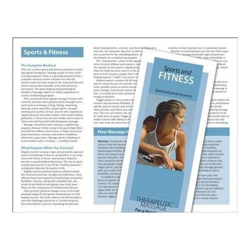 Jji Web Solutions Massage For Sports & Fitness Brochure 50 Pack Model 243 0265