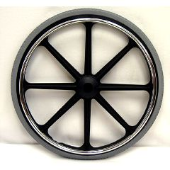 "New Solutions 22"" x 1 3/8"" Rear Mag Wheels with Urethane Tires Pair"