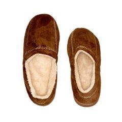 Deluxe Comfort Men's Modern Moccasin Memory Foam Slippers - Brown