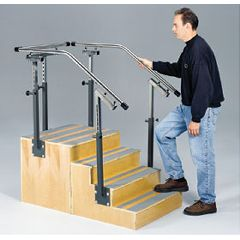 AliMed Clinton Adjustable Rail One-Sided Staircase
