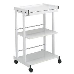 Paragon 3-Shelf Trolley With Pull Out Shelf & Power Strip