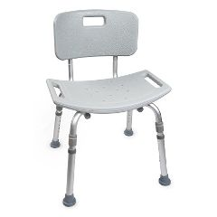 Mckesson by Drive McKesson Aluminum Bath Bench with Removable Back