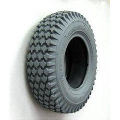 "Gray Pneumatic Knobby (Nimble) Tire - 13 x 4"" (410 x 350-6)"