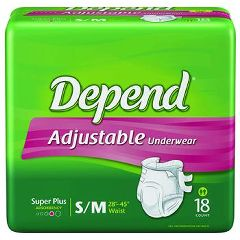 Depend Adjustable Disposable Underwear - Maximum Absorbency