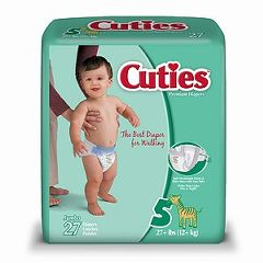Cuties Premium Baby Diapers - Size 5 and Size 6