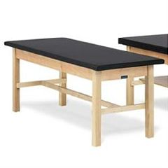 """Bailey Manufacturing Bailey Basic Treatment Table With H-Brace and 1"""" Black Upholstered Top"""
