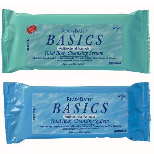 ReadyBath Basics Medium Weight Washcloths - Provide Bathing Comfort