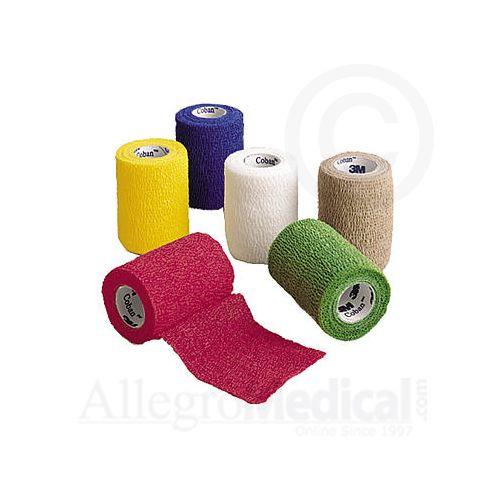 """Coban 3M Coban Self-Adherent Wrap 3"""" wide Assorted Colors Model 758 0130"""