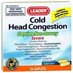 Cardinal Health Leader Cold Head Decongestant Caplets