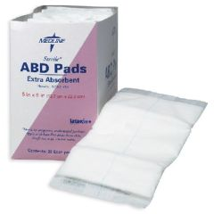 "Medline Abdominal (ABD) Pads, 8"" x 7½"", STERILE"