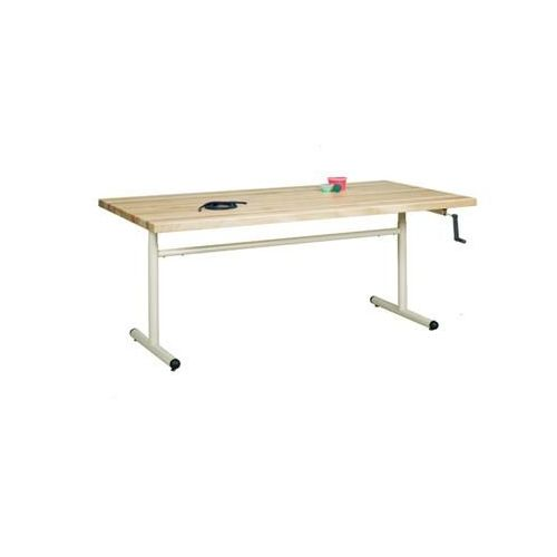 """Clinton Industries Clinton 48"""" Group Therapy Table with Hand Crank Height Adjustment Model 886 0399"""