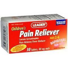 Cardinal Health Leader Children's Pain Relief RapidTabs