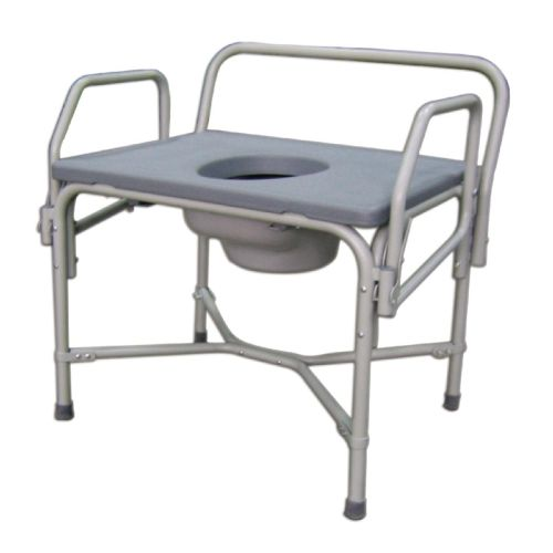 Medline Bariatric Drop-Arm Commode Model 178 574353 01