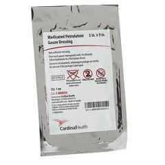 "Cardinal Health Sterile Medicated Petroleum Dressing 5"" x 9""  mL"