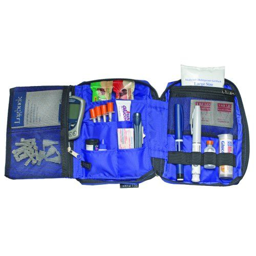 Medicool Dia-pak Deluxe Diabetes Travel Organizer - Black Model 141 5011
