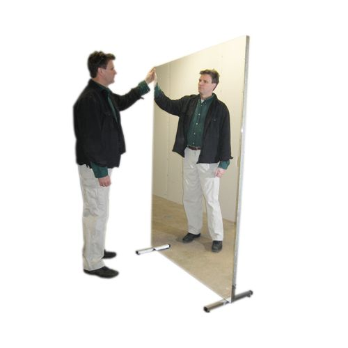 Fabrication Glassless Mirror, Stationary With Stand