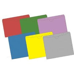 Integrated Filing Solutions 11 Pt Top Tab Non-Expandable Pocket Folders, 100/B