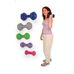 Cando Vinyl Dumbbells - Color-Coded Dumbbells