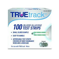 Invacare Supply Group TRUEtrack Blood Glucose Test Strips 100-Count