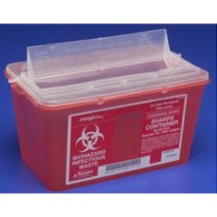 Sharps-A-Gator™ Sharps Container, Chimney Top, Red, 4 Quart