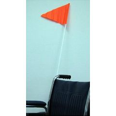 Folding Wheelchair & Scooter Orange Safety Flag for Increased Visibility