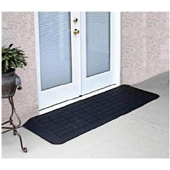 Rubber Threshold Ramp for Doorways - Slate Transition