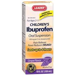Cardinal Health Leader Ibuprofen Children's Grape Suspension