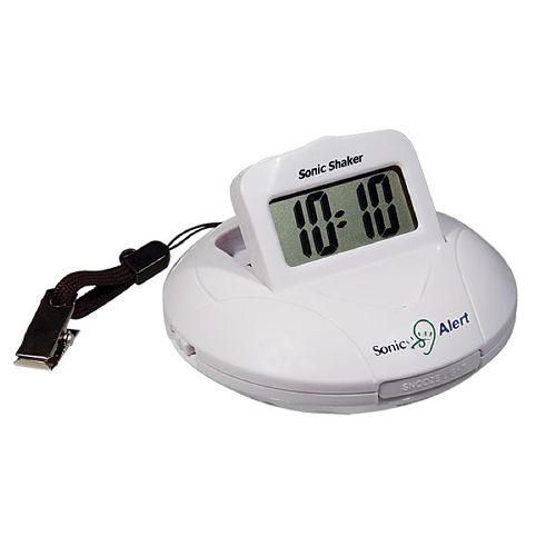 Sonic Alert Sonic Shaker SBP100 - Portable Vibrating Travel Alarm Clock  Model 083 0063