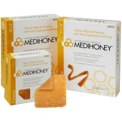 Derma Sciences MEDIHONEY Calcium Alginate Wound and Burn Dressing