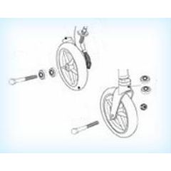 Drive Front/Rear Wheel Assembly for Drive 726 Rollator