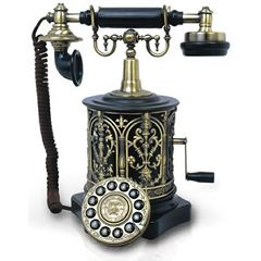 Paramount Biscuit Barrel 1893 Black Reproduction Phone