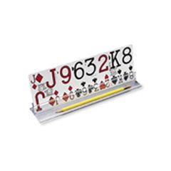 Playing Card Holder - Clear Plastic for greater visibility