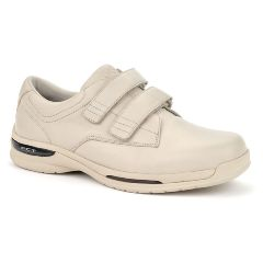 Oasis Footwear Oasis Men's  Nevis Hook & Loop Tan Diabetic Shoe