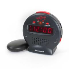 Sonic Alert Sonic Bomb Jr Alarm Clock with Bed Shaker
