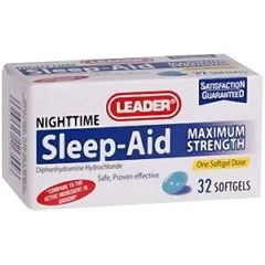 Cardinal Health Leader Maximum Strength Sleep Aid Softgels 32 Count