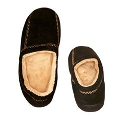 AB Marketers LLC Men's Slipper Suede Fleece