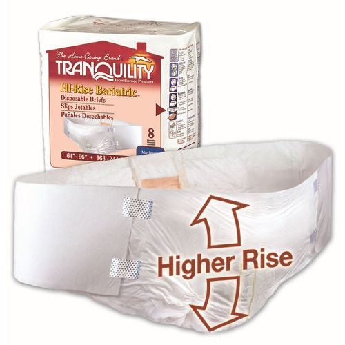"""Tranquility HI-Rise Bariatric Disposable Brief - 64"""" - 96"""" Waist Size"""